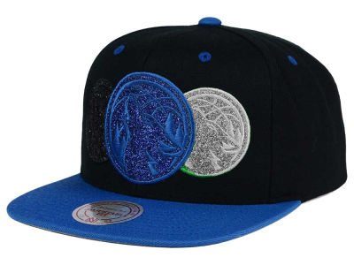 Minnesota Timberwolves Mitchell and Ness NBA Triple Stack Metallic Snapback Cap