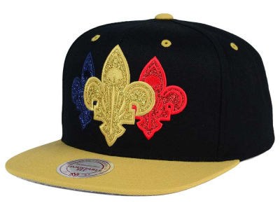 New Orleans Pelicans Mitchell and Ness NBA Triple Stack Metallic Snapback Cap