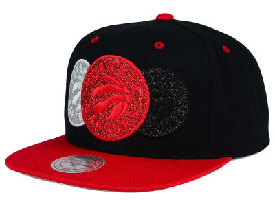 Toronto Raptors Mitchell and Ness NBA Triple Stack Metallic Snapback Cap