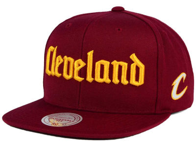 Cleveland Cavaliers Mitchell and Ness NBA Gothic City Snapback Cap