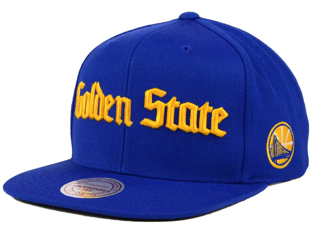 newest 34526 e5fb9 new style golden state warriors mitchell ness nba gothic city snapback cap  74017 1f24b