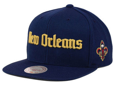 New Orleans Pelicans Mitchell and Ness NBA Gothic City Snapback Cap