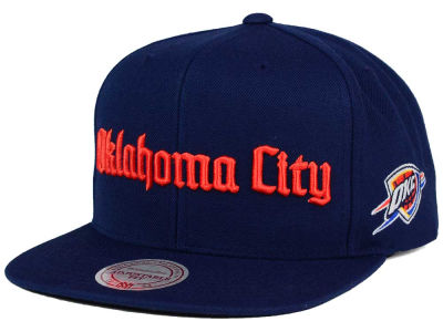 Oklahoma City Thunder Mitchell and Ness NBA Gothic City Snapback Cap