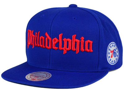 Philadelphia 76ers Mitchell and Ness NBA Gothic City Snapback Cap