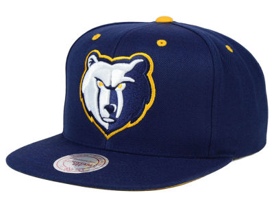 Memphis Grizzlies Mitchell and Ness NBA Navy & Yellow Snapback Cap