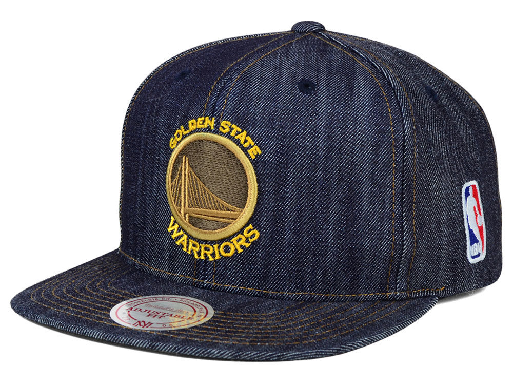 buy popular c0ce7 91855 ... greece golden state warriors mitchell ness nba dark denim snapback cap  bb6b2 923ab ...