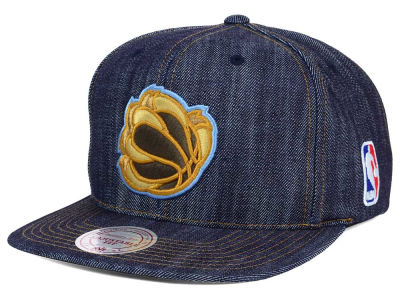 Memphis Grizzlies Mitchell and Ness NBA Dark Denim Snapback Cap