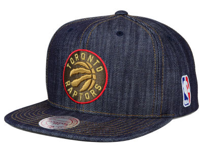 Toronto Raptors Mitchell and Ness NBA Dark Denim Snapback Cap