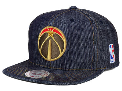 Washington Wizards Mitchell and Ness NBA Dark Denim Snapback Cap