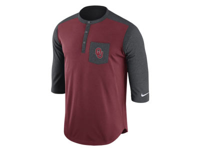 Oklahoma Sooners Nike NCAA Men's Dri-Fit Touch Henley Shirt