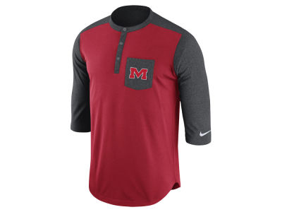 Ole Miss Rebels Nike NCAA Men's Dri-Fit Touch Henley Shirt
