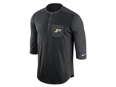 Purdue Boilermakers Nike NCAA Men's Dri-Fit Touch Henley Shirt