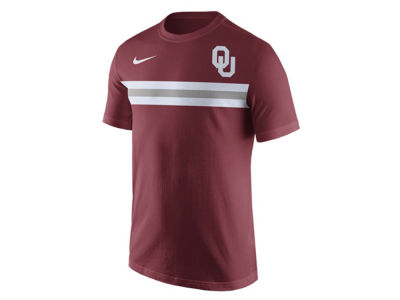 Oklahoma Sooners Nike NCAA Men's Cotton Team Stripe T-Shirt