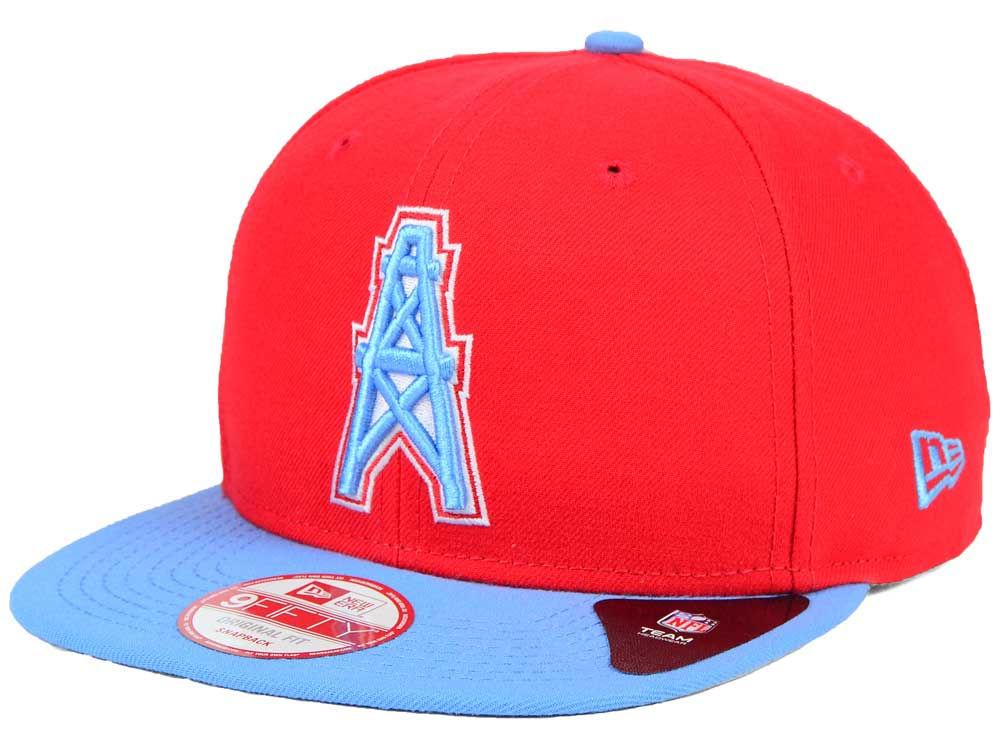 Houston Oilers New Era NFL Historic Baycik 9FIFTY Snapback Cap ... e769506d7
