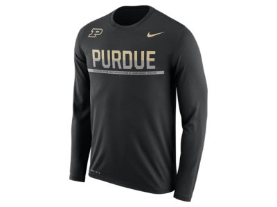 Purdue Boilermakers Nike NCAA Men's Legend Staff Sideline Long Sleeve T-Shirt