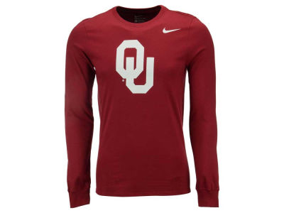 Oklahoma Sooners Nike NCAA Men's Cotton Logo Long Sleeve T-Shirt