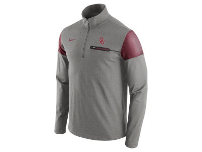 Oklahoma Sooners Nike NCAA Men's Elite Coaches Half Zip Pullover