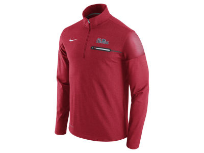 Ole Miss Rebels Nike NCAA Men's Elite Coaches Half Zip Pullover