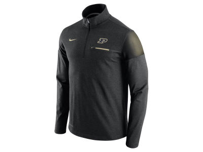 Purdue Boilermakers Nike NCAA Men's Elite Coaches Half Zip Pullover