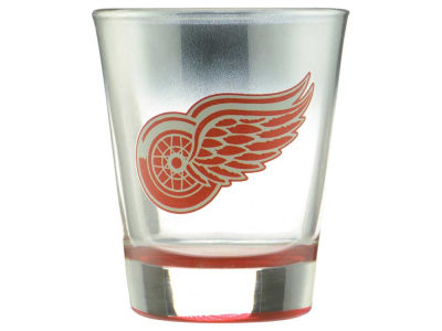 Detroit Red Wings Chrome Shot Glass 2oz