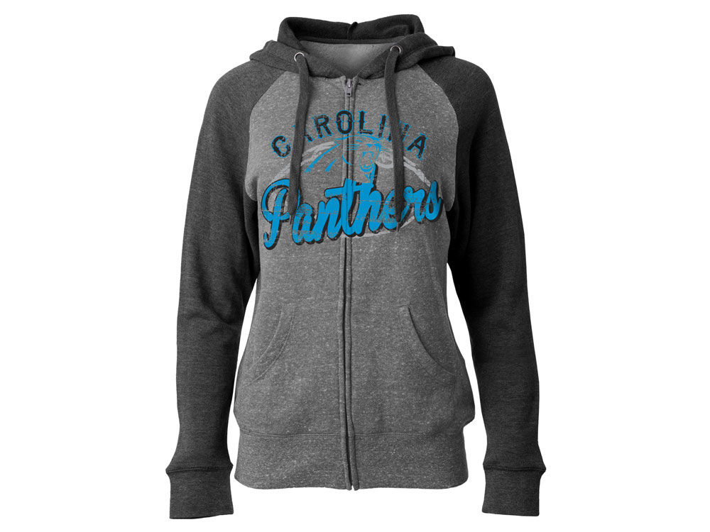 Carolina Panthers 5th   Ocean NFL Women s Arch Full Zip Hoodie ... 08a29ce32