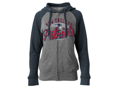 New England Patriots 5th & Ocean NFL Women's Arch Full Zip Hoodie
