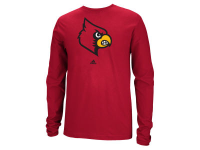 Louisville Cardinals adidas NCAA Men's School Logo Long Sleeve T-Shirt