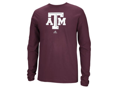 Texas A&M Aggies adidas NCAA Men's School Logo Long Sleeve T-Shirt