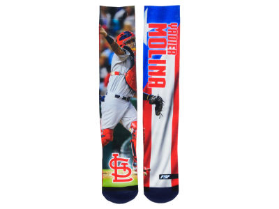 St. Louis Cardinals For Bare Feet MLB Player Mega Flag II Crew Socks