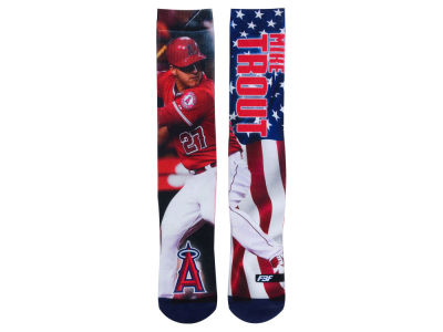 Los Angeles Angels Mike Trout For Bare Feet MLB Player Mega Flag II Crew Socks