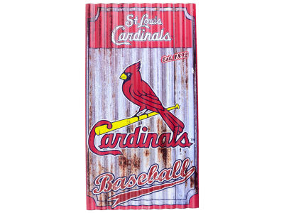 St. Louis Cardinals Metal Corrugated Sign