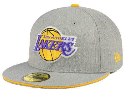 Los Angeles Lakers New Era HWC Heather Slice 59FIFTY Cap