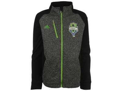 Seattle Sounders FC adidas MLS Youth Fleece Track Jacket