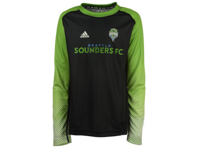 Seattle Sounders FC adidas MLS Youth Stealth Performance Long Sleeve T-Shirt