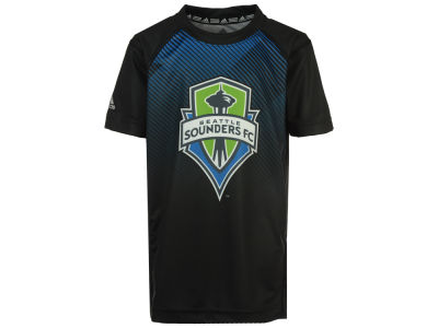 Seattle Sounders FC adidas MLS Youth Stealth Performance T-Shirt