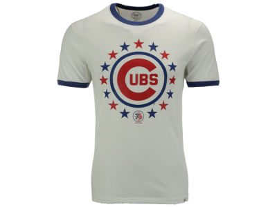Chicago Cubs '47 MLB Men's Archive Ringer Bicentennial T-Shirt