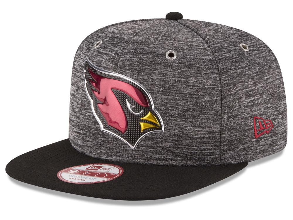 f4d42d61817 Arizona Cardinals New Era 2016 NFL Draft 9FIFTY Black Original Fit Snapback  Cap