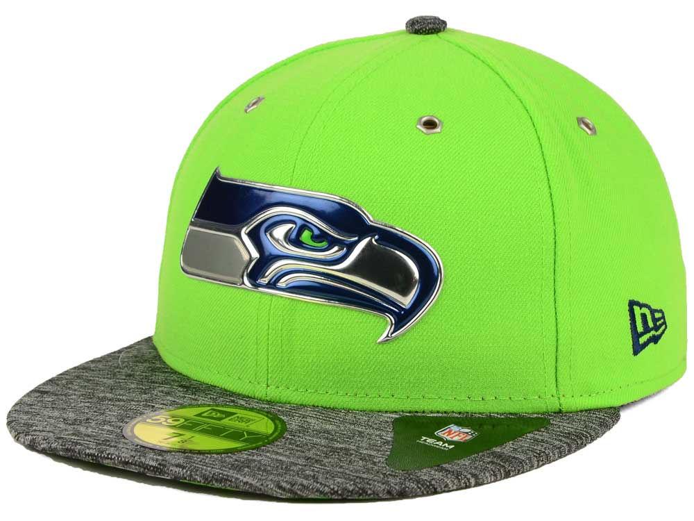 da6e2f6d9 Seattle Seahawks New Era 2016 NFL Draft Alternate 59FIFTY Cap