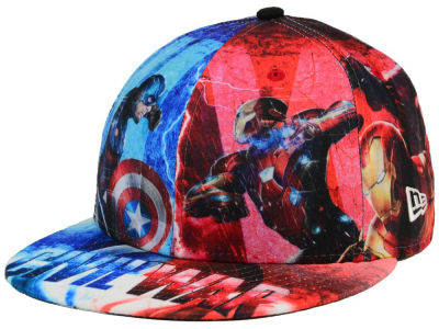 Captain America Marvel All Over Civil War 59FIFTY Cap