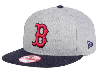 Boston Red Sox New Era MLB Heather 2 Tone 9FIFTY Snapback Cap