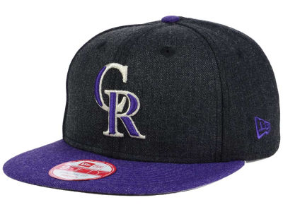 Colorado Rockies New Era MLB Heather 2 Tone 9FIFTY Snapback Cap