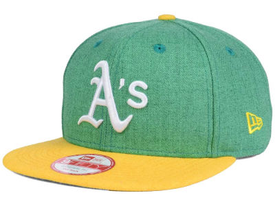Oakland Athletics New Era MLB Heather 2 Tone 9FIFTY Snapback Cap