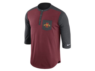Iowa State Cyclones Nike NCAA Men's Dri-Fit Touch Henley Shirt