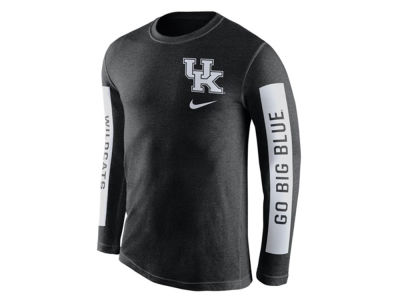 Kentucky Wildcats Nike NCAA Men's Tri-Blend Boundry Long Sleeve T-Shirt