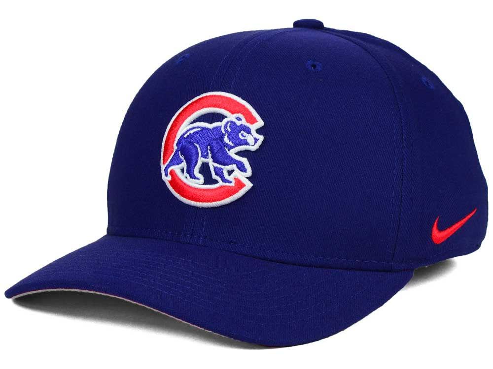 Chicago Cubs Nike MLB Ligature Swoosh Flex Cap 44923250327