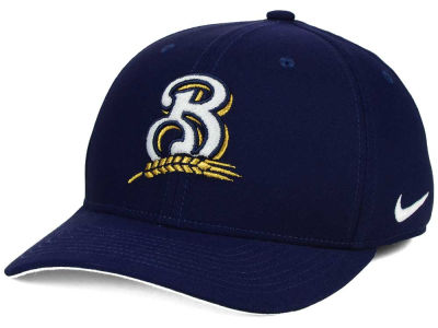 Milwaukee Brewers Nike MLB Ligature Swoosh Flex Cap