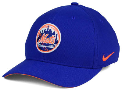 New York Mets Nike MLB Ligature Swoosh Flex Cap