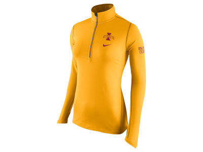 Iowa State Cyclones Nike NCAA Womens Tailgate Element Half Zip Shirt