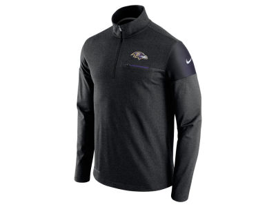 Baltimore Ravens Nike NFL Men's Elite Coaches 1/4 Zip Pullover