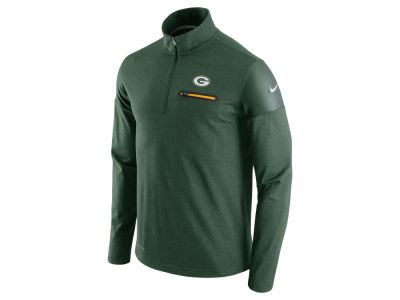 Green Bay Packers Nike NFL Men's Elite Coaches 1/4 Zip Pullover